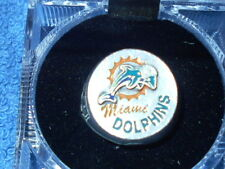 MIAMI DOLPHINS PEWTER HAND PAINTED SCULPTURED RING SIZE 8 1/2