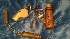 5 Vintage Metal Wood England Whistle Acme Thunderer Metropolitan Made in England
