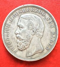 1876 Germany Empire Baden Silve Coin