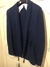 giacca LIU JO blu 46 S 48 M giacche jacket man slim blue blu jacket's