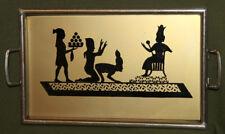 Metal serving tray Egyptian motive
