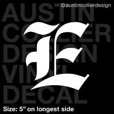 "5"" LETTER ""E"" vinyl decal car truck window laptop sticker - initials name"