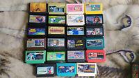 Nintendo Famicom Game LOT x23 Super Mario Rampart Goonies Final Fantasy Xevious