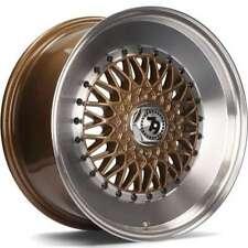 "16"" 79Wheels SV-F Alloy Wheels 4x100 Bronze Polished Lip fit VW Golf Mk1 Mk2 Mk3"