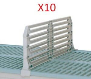 "PACK OF 10 - METRO DD24-8 METROMAX I POLYMER SHELF DIVIDER 8"" X 24"""