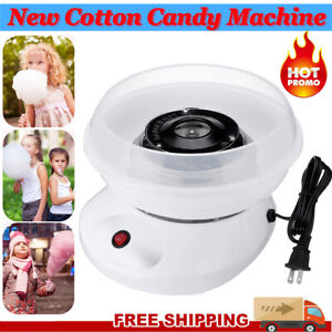 New Electric Cotton Candy Machine White Floss Carnival Commercial Maker Party