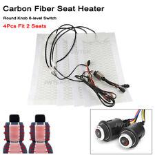 12V Universal Car Seat Heater Round Knob 6 Level Carbon Fiber Heated Seat Pads