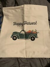 Thirty One Statement Pillow Cover Natural - Fall Truck Happy Harvest Brand New