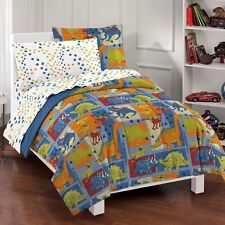 NEW Dinosaur Blocks Boys Bedding Comforter Sheet Set Twin