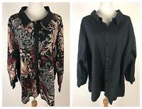 *NEW* LIZ & ME Petites L/S Reversible Quilted Cotton Jacket (Paisley/Solid)- 5XP