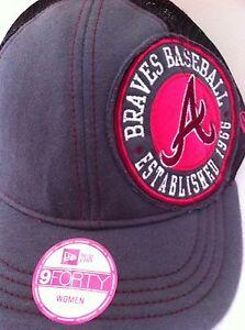Authentic Atlanta Braves New Era Women's Women Cap Hat MLB Mlb Baseball Girl New