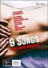 9 Songs (DVD, 2008) // category stickers on sleeve