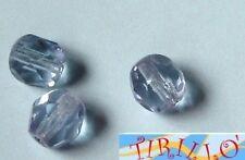 BIGIOTTERIA PERLINE -20 mezzi cristalli 6 mm Azzurro