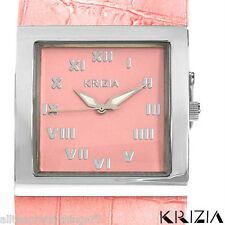 KRIZIA Quartz ITALIAN Pink Leather Women's Watch BRAND NEW IN CASE