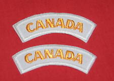 Royal Canadian Navy-CANADA-Gold/White shoulder flashes