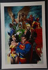 Superman Wonder Woman Michael Turner Aspen Art Print
