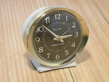 Vintage Westclox Baby Ben Wind-Up Alarm Clock White Brown for Parts or Repair