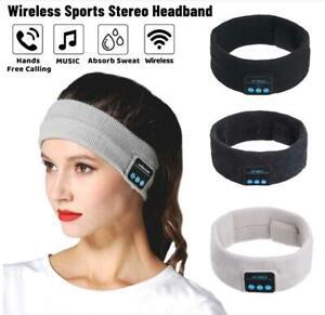 Wireless Bluetooth 5.0 Music Headband Headset Anti-Noise Sports Run Sleep Gym UK