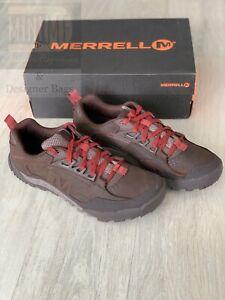 Merrell Annex Trak Low Mens Dark Brown Walking Trainers Shoes UK 12.5 NEW BOXED