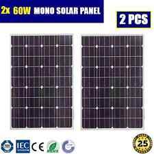 120W ( 2x 60W ) 12V MONO SOLAR PANEL GENERATOR CARAVAN BATTERY CHARGING POWER