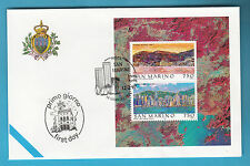 SAN MARINO 1997 HONG KONG FOGLIETTO FDC UFFICIALE POSTE ANNULLO SPECIALE F.D.C.