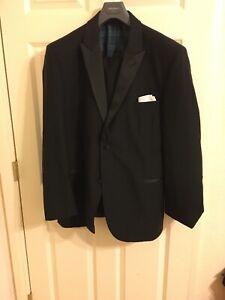 Ralph Lauren Green Label Peak Lapel Tuxedo 46L, Pants With Side Tab Adjusters