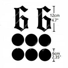 Anime Cosplay Temporary Tattoo Sticker BLEACH Espada NO.6 Grimmjow Jeagerjaques