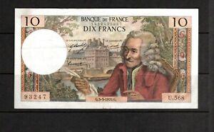 Billet 10 Francs Voltaire 05/03/70 SPL Fay 62-43