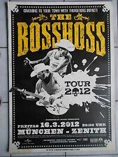 THE BOSSHOSS 2012 MÜNCHEN  MOTIV 1  orig.Concert-Konzert-Tour-Poster-Plakat A1