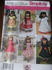 "SEWING PATTERN FOR DOLL CLOTHES S1486 DRESS PANTIES SLIP FOR 18"" DOLLS UNCUT"