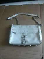 Rebecca Minkoff White Leather Crossbody Shoulder Bag Purse Handbag