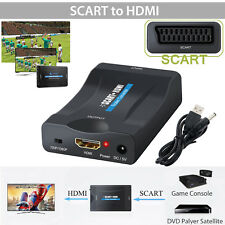Scart auf zu HDMI 1080P Video Audio Konverter Adapter Wandler AV HD TV USB Box