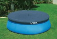 INTEX 12ft Round Swimming Paddling Pool Cover Easy Fast Set Rope Ties 12ft
