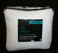 """my down comforter"" Warmer Full Queen 94x100 Solid White Asthma Allergy Friendly"