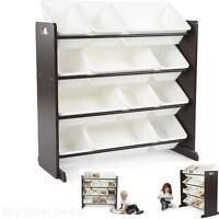 Storage Organizer Toy Kids White Box Bedroom Furniture Playroom Chest Bin Shelf