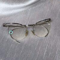 Vintage Bausch & Lomb Eyeglasses 12KGF Silver Cateye Frames