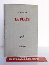 La Place. Annie ERNAUX. nrf Prix Renaudot 1984. Bande conservée. Relié toile.