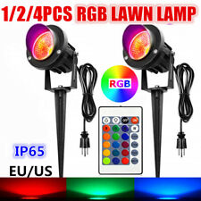 4PCS 20W RGB LED Flood Light Outdoor Garden Landscape Path Lawn Lamp EU/US