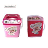 Kids Mini Washing Machine Electric Child Bathroom Pretend Play House Toy Washer