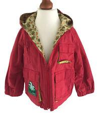 Oilily Jacke Baumwolljacke 80 Kapuze Rot Grün Echse 🦎 Gecko *N Mädchen Junge
