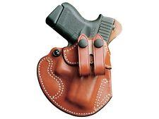 DeSantis Cozy Partner Belt Holster Ruger American 9mm Leather Right Tan