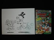 Disney Don Rosa Art Original Hand Drawn SCROOGE RETURN PLAIN AWFUL Square Chick