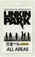 Linkin Park 2007 Minutes to Midnight tour All Access Laminated Backstage Pass