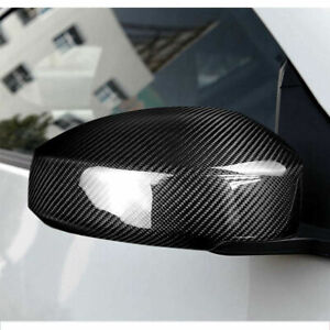 For Nissan 350Z Z33 03-09 Real Carbon Fiber Side Mirror Cover Caps Direct Add-on