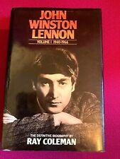 John Winston Lennon: v. 1: 1940-66 by Ray Coleman (Hardcover, 1984) Rare Item