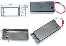 Hot  9V PP3 Battery Holder Box DC Case With Wire Lead ON/OFF Switch Cover Case