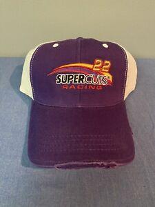 """Super Rare #22 Super Cuts Racing Nascar """"SAMPLE"""" Hat Cap Trucker Mesh NOS"""