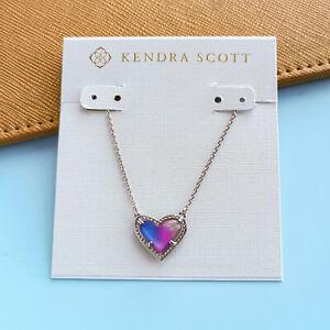 Ari Heart - Kendra Scott Watercolor Illusion Silver Pendant Necklace