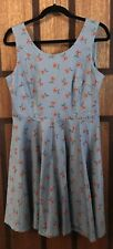 Princess Highway Cherry Print Dress - Blue - Size 12