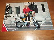 Motorcycle Brochure. Yamaha. Bop II. Moped. 1981. Free UK P&P.